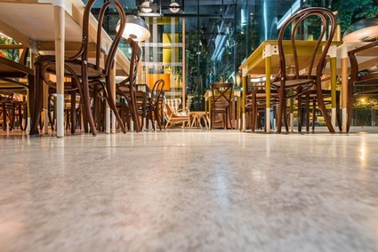 glossy polished concrete floor in Florida