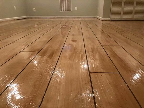 rustic wood concrete flooring miami