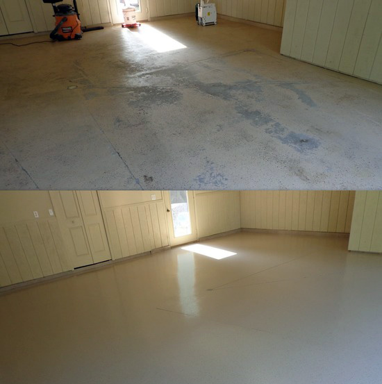 garage epoxy floors before and after Miami