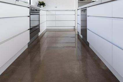 acid stain kitchen floors South Florida
